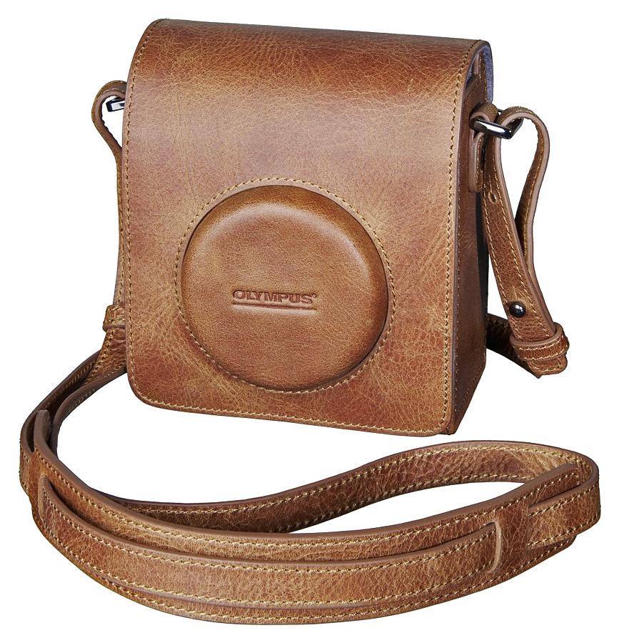 Olympus Premium Leather Case - Kožené puzdro pre STYLUS 1, OM-D E-M10, PEN E-P5