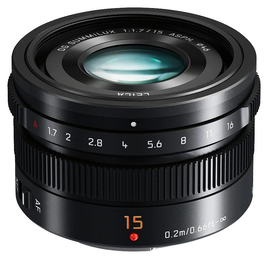 Panasonic Leica DG SUMMILUX 15mm f/1.7 ASPH, Čierny