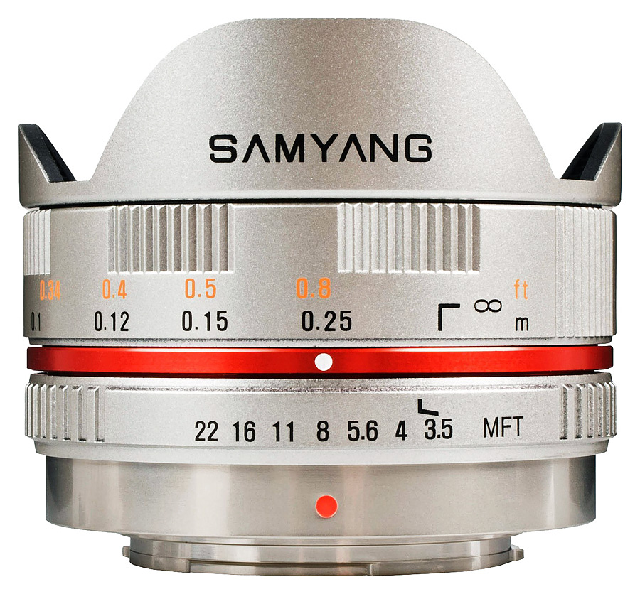 Samyang 7,5mm f/3.5 UMC Fisheye, baj. Micro 4/3 Olympus/Panasonic, Strieborný