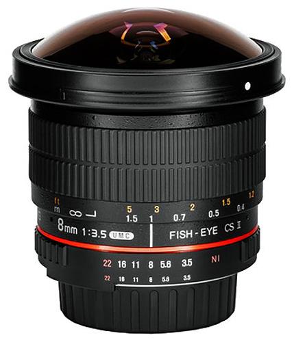 Samyang 8mm f/3.5 IF MC Aspherical CSII DH Fisheye (AE), baj. Sony E