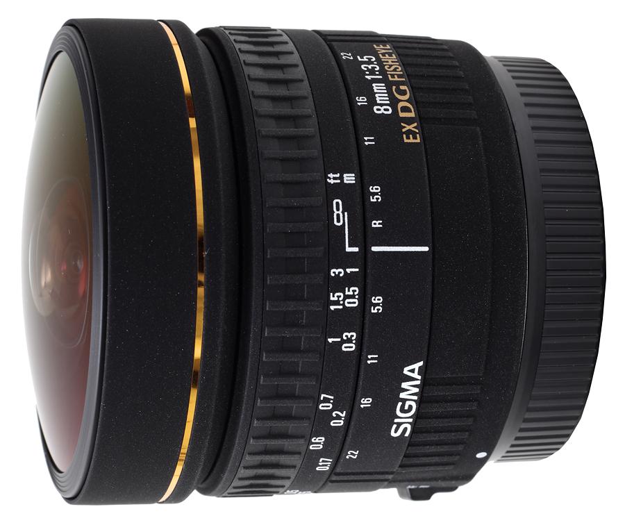 Sigma 8mm f/3.5 EX DG Fisheye Circular, baj. Canon