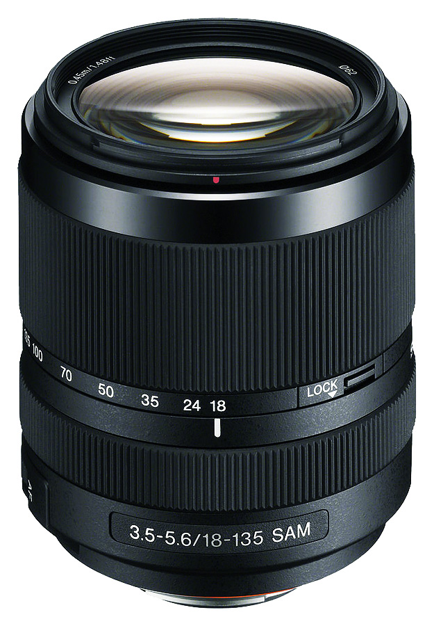 Sony A DT 18-135mm f/3.5-5.6 SAM (APS-C, A-Mount), Čierny