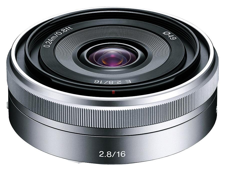 Sony E 16mm f/2.8 (APS-C, E-Mount), Strieborný