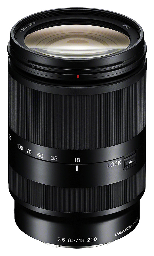 Sony E 18-200mm f/3.5-6.3 OSS LE (APS-C, E-Mount), Čierny