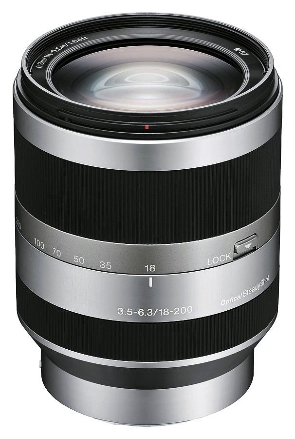 Sony E 18-200mm f/3.5-6.3 OSS (APS-C, E-Mount), Strieborný