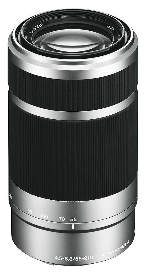 Sony E 55-210mm f/4.5-6.3 OSS (APS-C, E-Mount), Strieborný