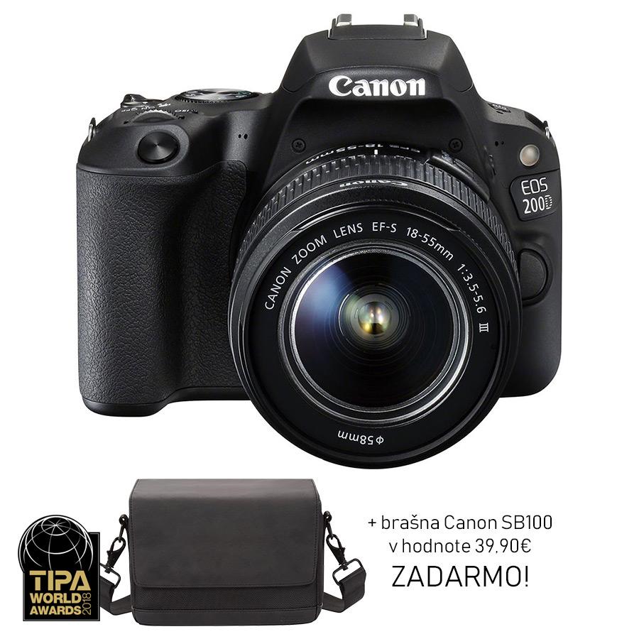 Canon EOS 200D + EF-S 18-55mm f/4-5.6 DC III + brašna ZADARMO