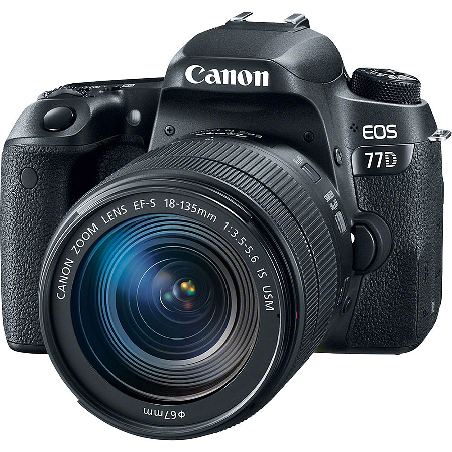 Canon EOS 77D + EF-S 18-135mm f/3.5-5.6 IS Nano USM, CASHBACK 100 €