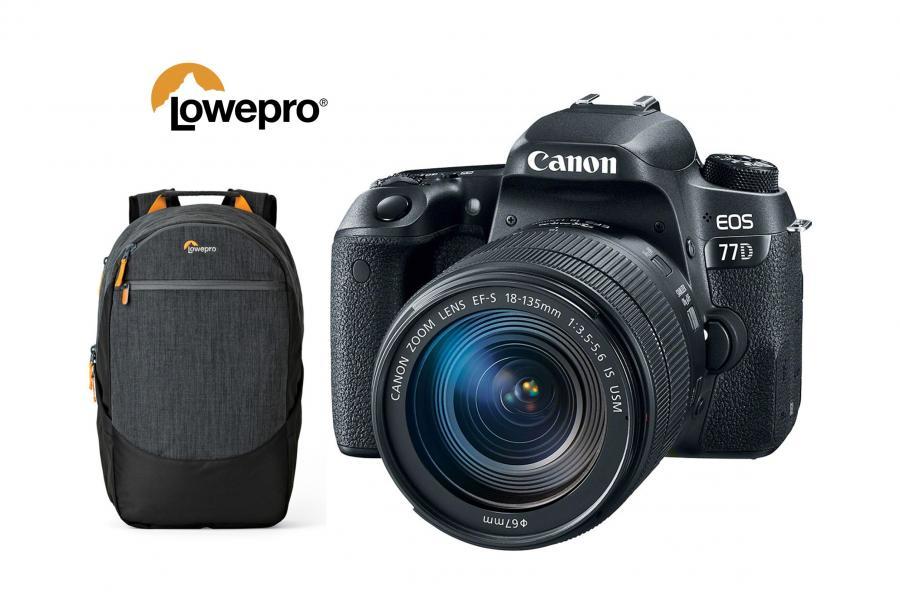 Canon EOS 77D + EF-S 18-135mm f/3.5-5.6 IS Nano USM + batoh Lowepro zadarmo