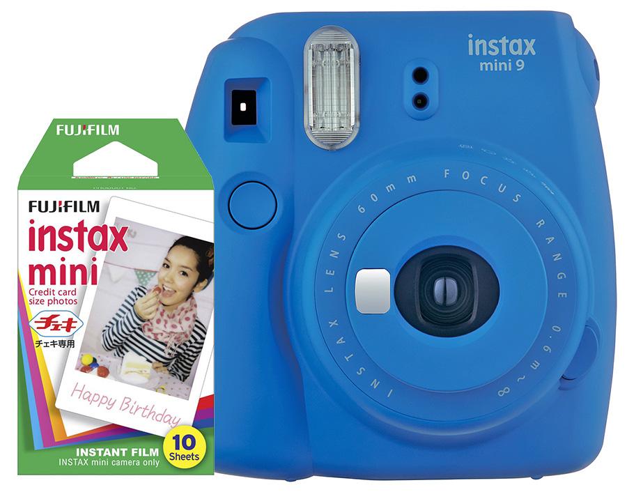 Fujifilm Instax Mini 9, modrý + 10 fotografií