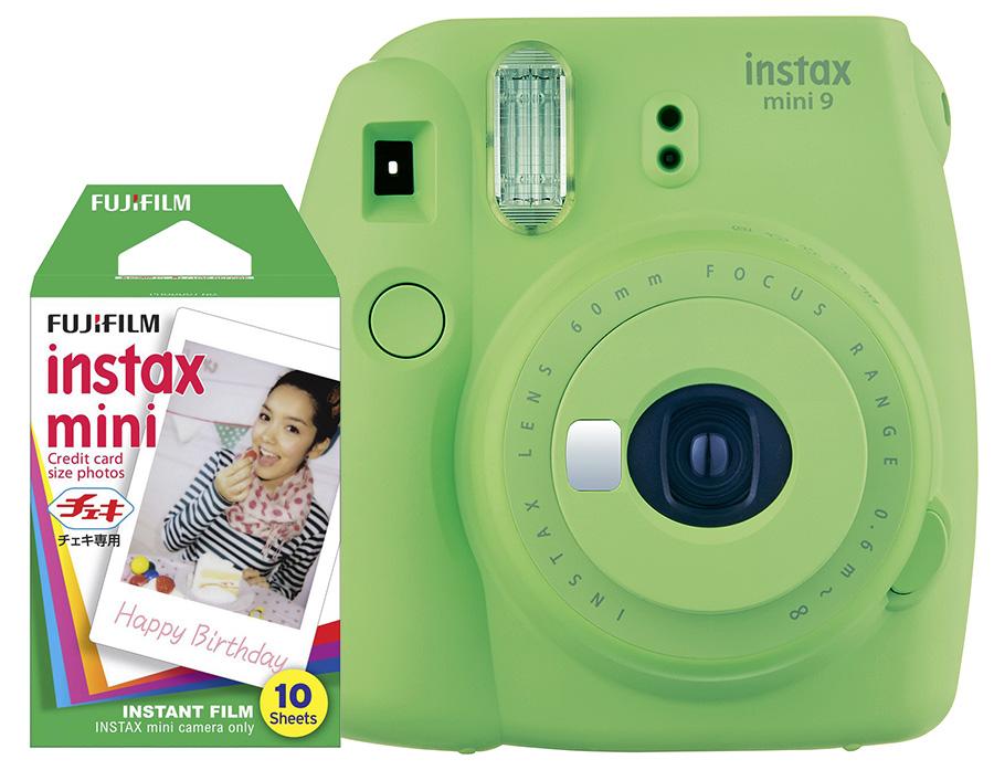 Fujifilm Instax Mini 9, zelený + 10 fotografií + puzdro