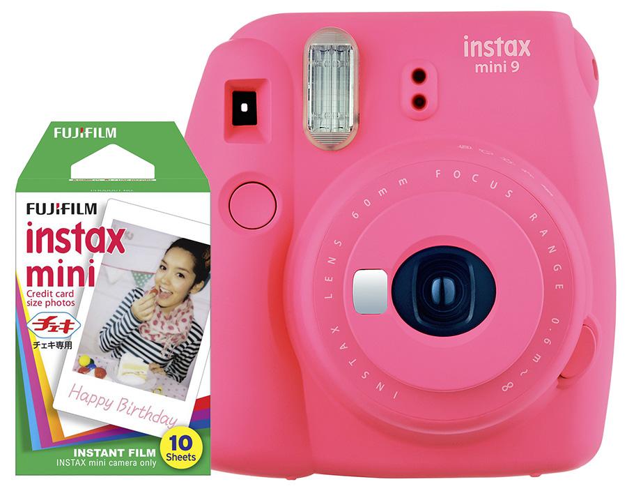 Fujifilm Instax Mini 9, ružový + 10 fotografií