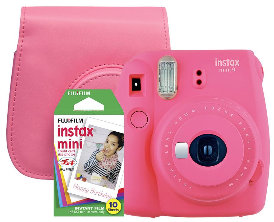 Fujifilm Instax Mini 9, ružový + 10 fotografií + puzdro