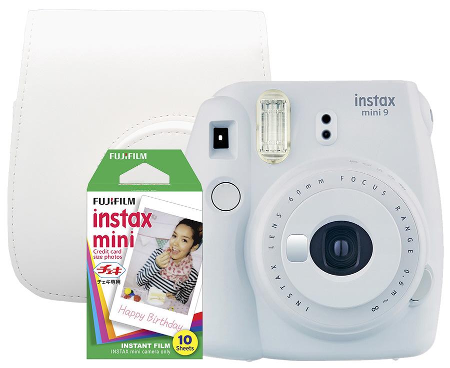 Fujifilm Instax Mini 9, biely + 10 fotografií + puzdro
